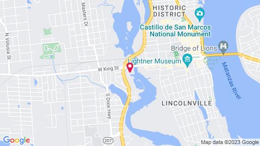 Homewood Suites by Hilton St. Augustine San Sebastian Map