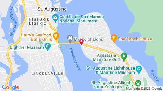 Marker 8 Hotel & Marina Map