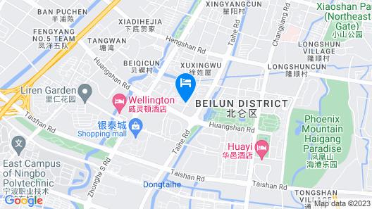 Doubletree By Hilton Ningbo Beilun Map