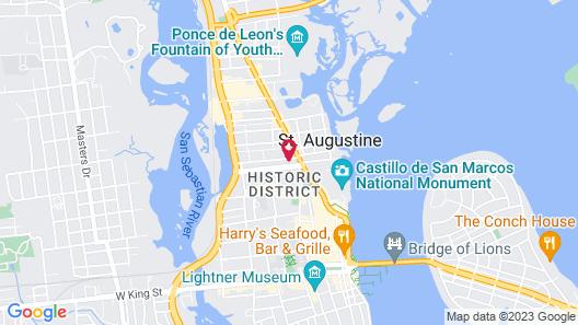 Renaissance St. Augustine Historic Downtown Hotel Map