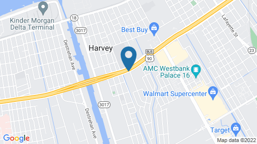 Travelodge by Wyndham New Orleans West Harvey Hotel Map