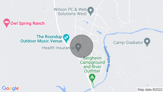 Guadalupe River, Hill Country Texas Map