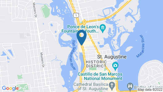 The Ponce St. Augustine Hotel Map