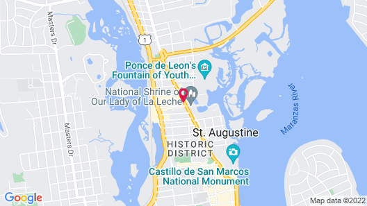 DoubleTree by Hilton Hotel St. Augustine Historic District Map