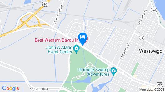 Best Western Bayou Inn Map