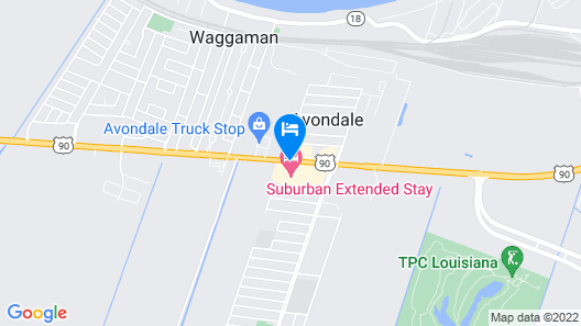 Suburban Extended Stay Of Avondale Map