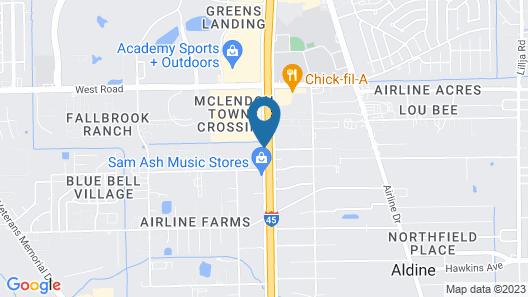 Baymont by Wyndham Houston North Map