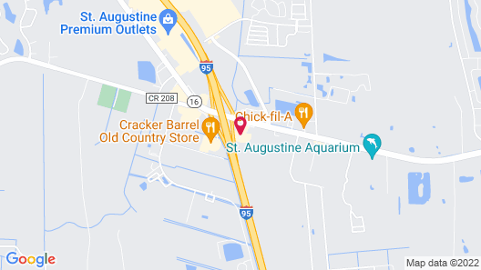 Comfort Inn & Suites I-95 - Outlet Mall Map