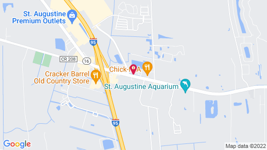 Quality Inn St. Augustine Outlet Mall Map