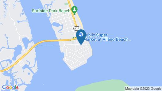 Hampton Inn & Suites St Augustine Vilano Beach Map
