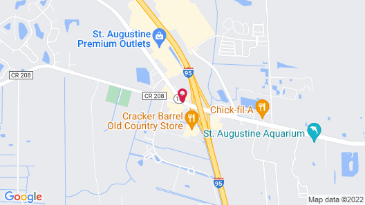 Red Roof Inn PLUS+ St. Augustine Map