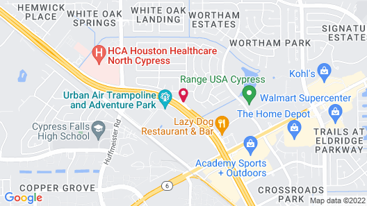SpringHill Suites by Marriott Houston Hwy. 290/NW Cypress Map