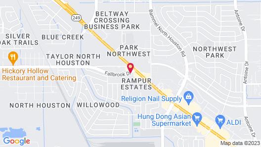 Motel 6 Houston, TX - 249 - Willowbrook Map