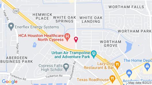 Residence Inn by Marriott Houston Northwest/Cypress Map