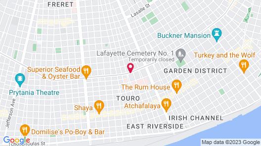Hampton Inn New Orleans-St. Charles Ave./Garden District, LA Map