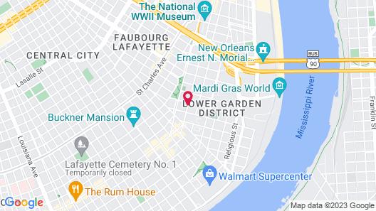 St. Vincent's Guest House Map