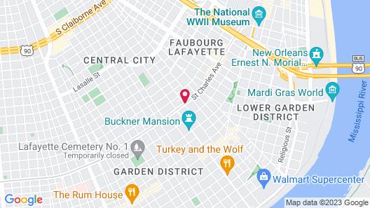 The Pontchartrain Hotel Map