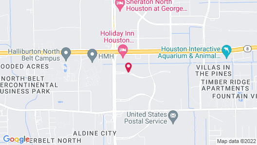 Fairfield Inn & Suites Houston Intercontinental Airport Map