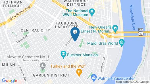 Parisian Courtyard Inn Map