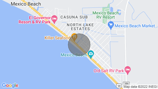Great Views of the Gulf! Paradise Shores 304! Map