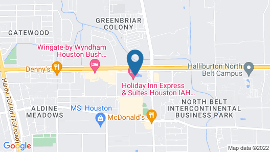 Holiday Inn Express & Suites Houston IAH - Beltway 8, an IHG Hotel Map