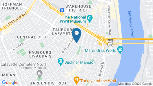 Fairchild House Bed & Breakfast Map