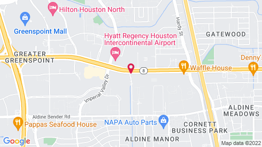 Red Lion Hotel Houston Intercontinental Airport Map