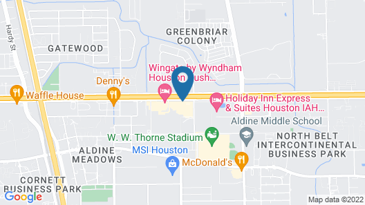 Four Points by Sheraton Houston Intercontinental Airport Map