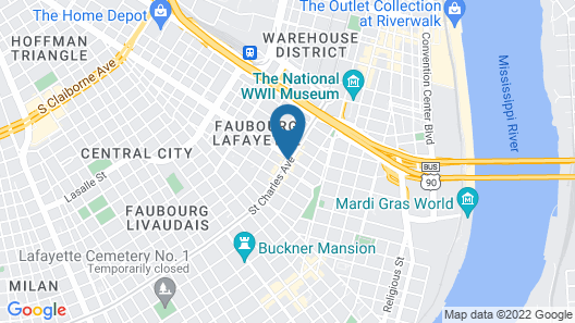 Historic Streetcar Inn Map