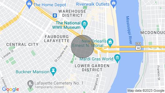 The Green House Inn Map