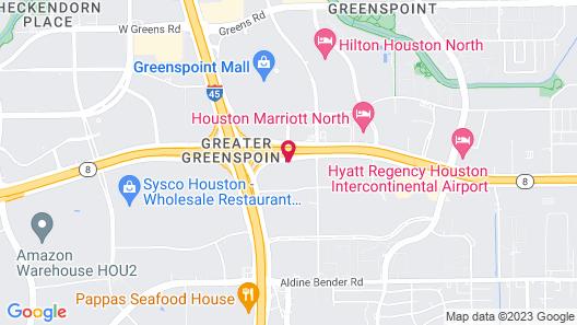 Studio 6 Houston, TX - Intercontinental Airport South Map