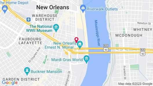 Hampton Inn & Suites New Orleans Convention Center Map