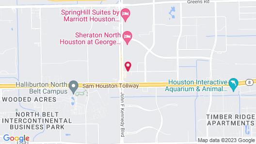 Hilton Garden Inn Houston/Bush Intercontinental Airport Map