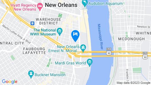 Hilton Garden Inn New Orleans Convention Center Map