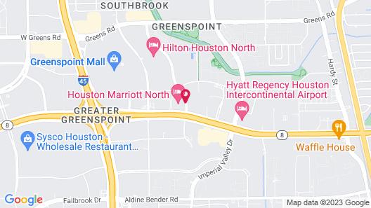 Houston Marriott North Map