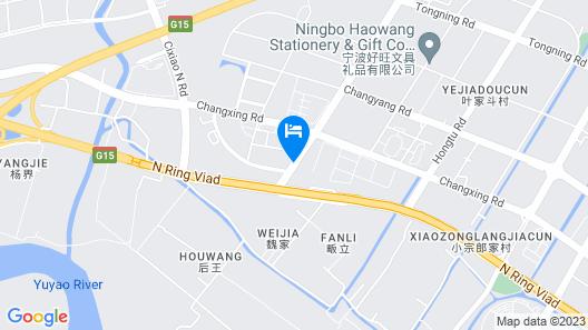 The QUBE Hotel Ningbo North Map