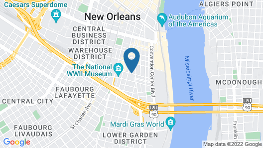 Sonesta ES Suites New Orleans Convention Center Map