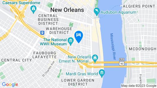 Sonesta ES Suites New Orleans Convention Center Map