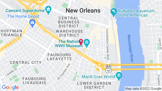 Holiday Inn Express New Orleans - St Charles Map