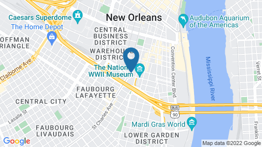 Holiday Inn Express New Orleans - St Charles, an IHG Hotel Map