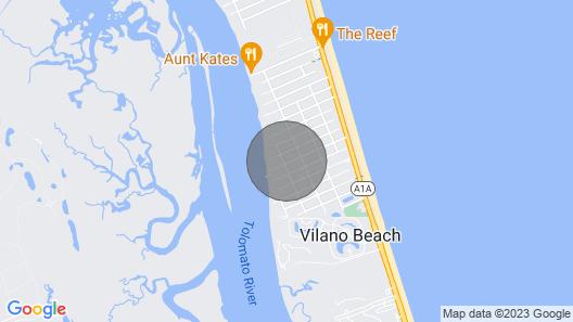 Vilano Beach-healing Sol-4 Kayaks-steps to Intracoastal! Map