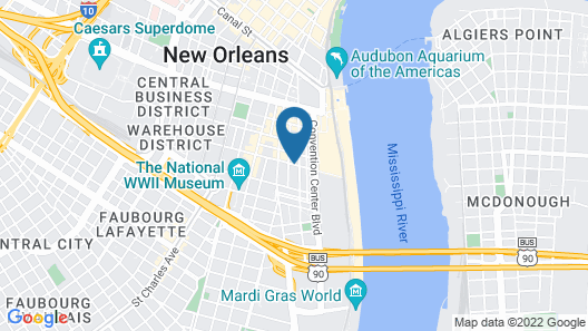 Embassy Suites by Hilton New Orleans Map