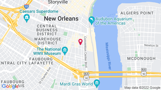 The Mercantile Hotel New Orleans Map