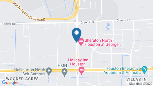 DoubleTree by Hilton Houston Intercontinental Airport Map