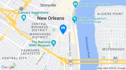 Cambria Hotel New Orleans Downtown Warehouse District Map