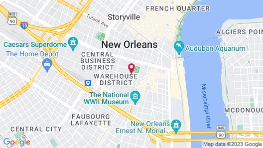 Lafayette Hotel Map