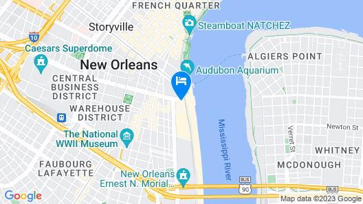Hilton New Orleans Riverside Map