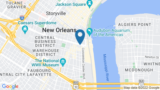 Harrahs New Orleans Casino & Hotel Map