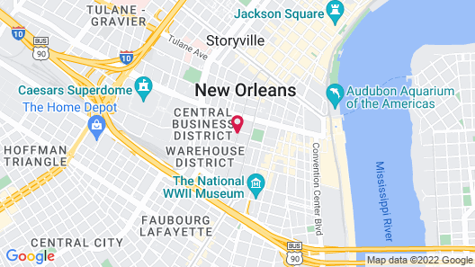 Ace Hotel New Orleans Map