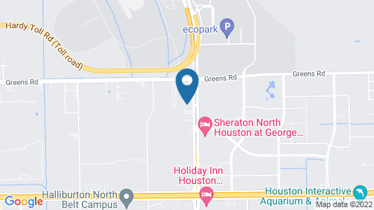 Hampton Inn & Suites Houston-Bush Intercontinental Airport Map